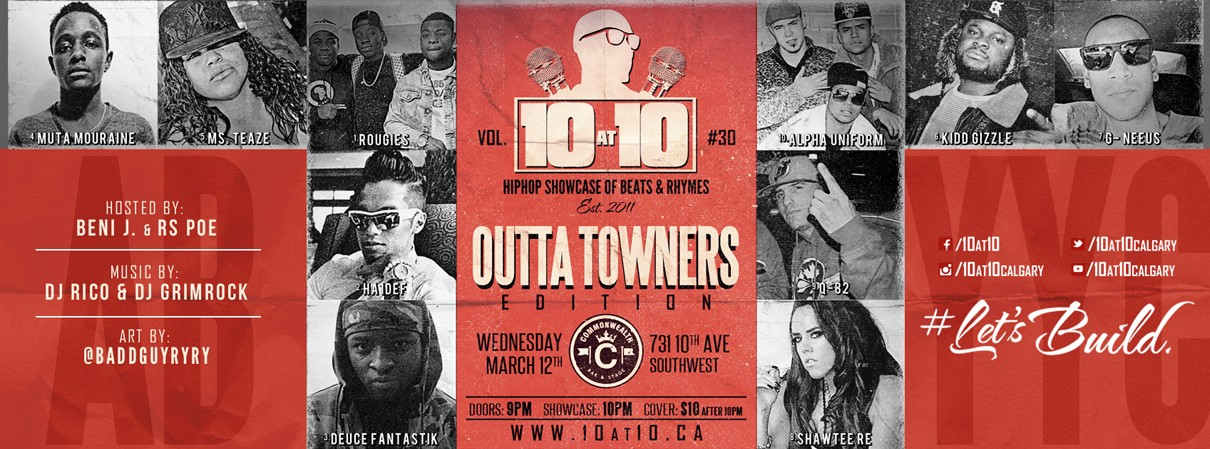 10 at 10: Hiphop Showcase of Beats & Rhymes vol. 30 – OUTTATOWNERS