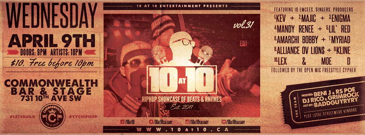 10 at 10 Hiphop Showcase vol. 31