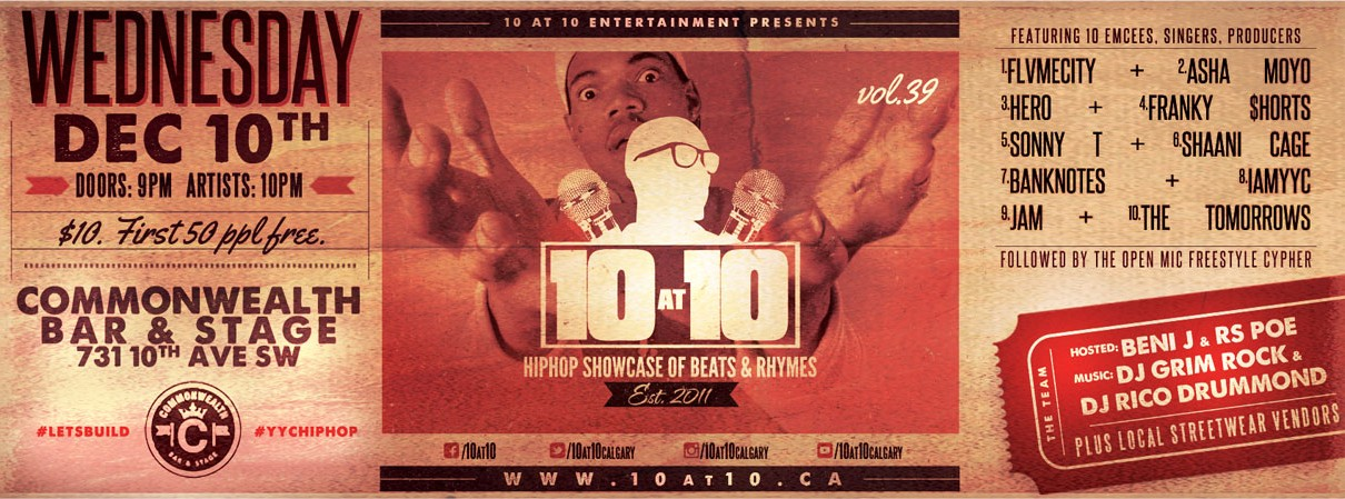 10 at 10 Hiphop Showcase vol. 39