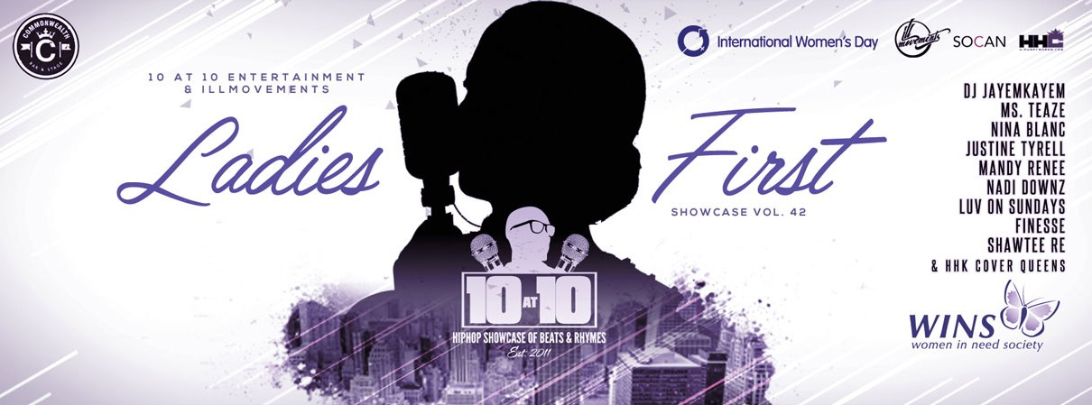 LADIES FIRST: 10 at 10 Hiphop Showcase vol. 42