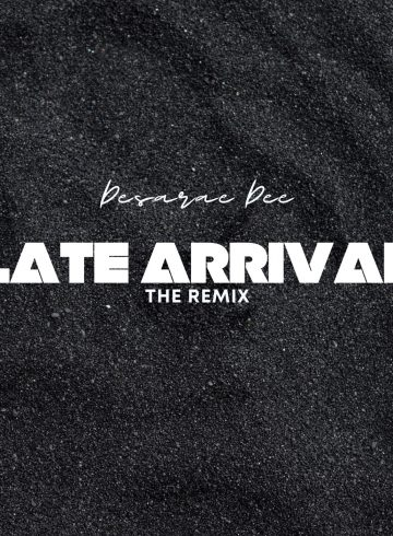 """an album cover with the text """"late arrival"""" and """"desarae dee"""" written over top"""